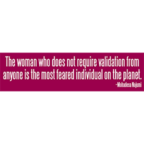 Woman Feared Individual Bumper Sticker
