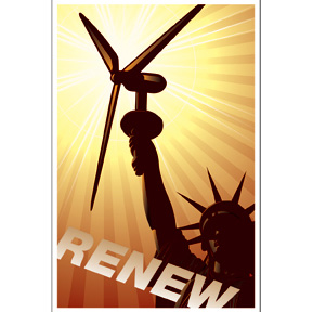Renew Windmill Power Poster