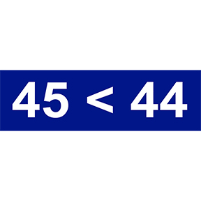 45-Less-Than-44-Sticker