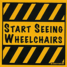 Start Seeing Wheelchairs Sticker