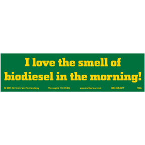 I Love Biodiesel Bumper Sticker