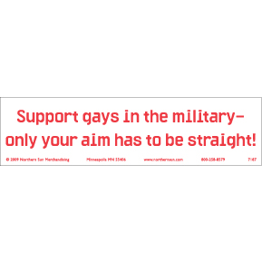 Gays Military Bumper Sticker GONE