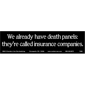 Death Panels Bumper Sticker