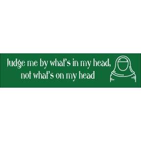 Judge What's In Not On My Head Bumper Sticker