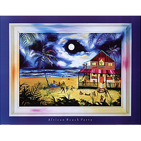 African Beach Party Jane Evershed Poster