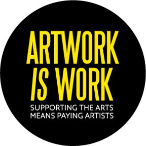 Artwork Is Work Button