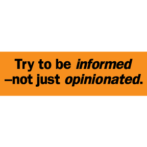 Be-Informed-Sticker