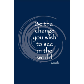 Be The Change Gandhi 2x3 Magnet