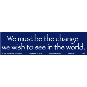 Be The Change Gandhi Bumper Sticker