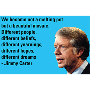 Beautiful Mosaic Jimmy Carter Magnet