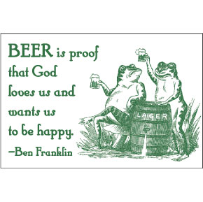 Beer Ben Franklin 2x3 Magnet