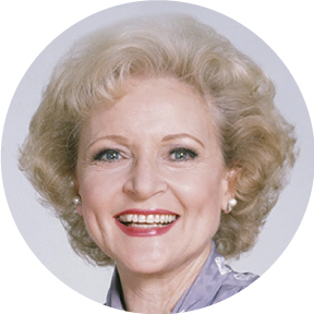 Betty White Button