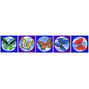 Butterfly Flags Mini Banner