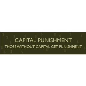 Capital Punishment Bumper Sticker