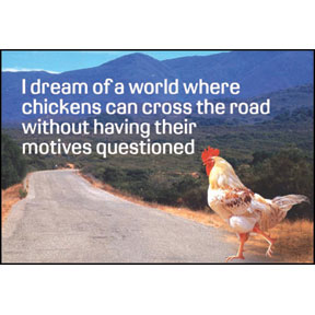 Chicken Motives 2x3 Magnet
