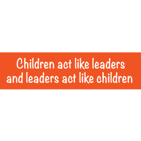 Children Act Like Leaders Bumper Sticker