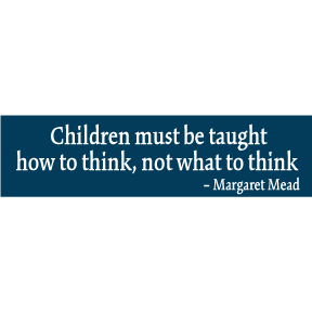 Children Margaret Mead Bumper Sticker