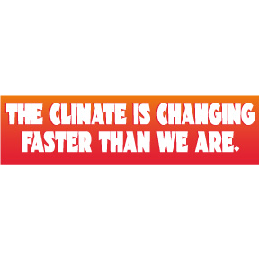 Climate Changing Faster Bumper Sticker