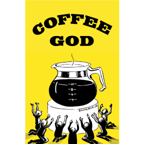 Coffee Is God 2x3 Magnet