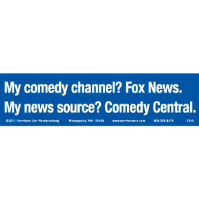 Comedy Fox News Bumper Sticker