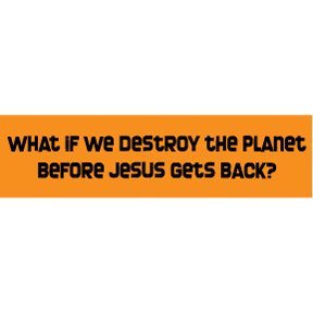 Destroy Planet Before Jesus Bumper Sticker