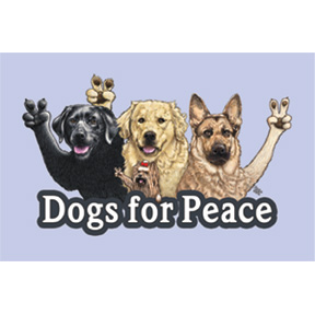Dogs For Peace 2x3 Magnet