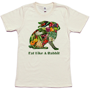 Eat Like A Rabbit Organic TShirt