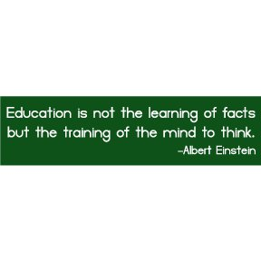 Education Albert Einstein Bumper Sticker