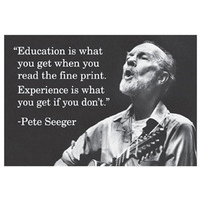 Education Is What You Get Seeger 2x3 Magnet
