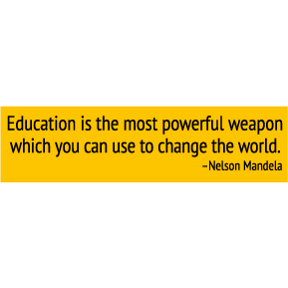 Education Nelson Mandela Bumper Sticker