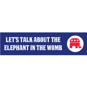 Elephant In The Womb Bumper Sticker