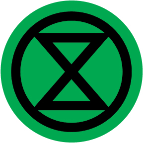 Extinction Rebellion Button