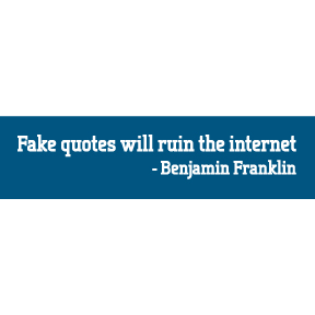 Fake Quotes Bumper Sticker