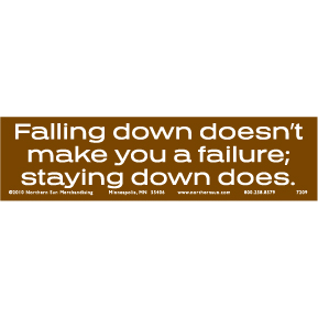 Falling Down Bumper Sticker