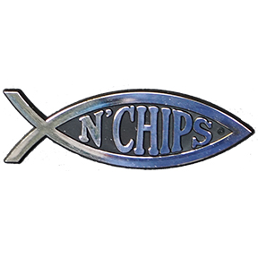 Fish N Chips Car Emblem