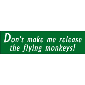 Flying-Monkeys-Bumper-Sticker