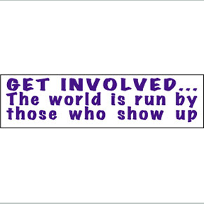 Get Involved World Run By Bumper Sticker