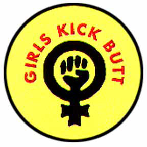 Girls Kick Butt Button
