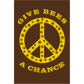 Give Bees A Chance 2x3 Magnet