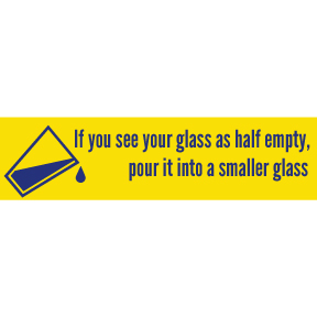 Glass Half Empty Bumper Sticker