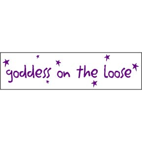 Goddess-On-The-Loose-Bumper-Sticker