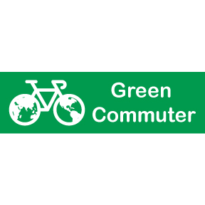 Green Commuter Sticker