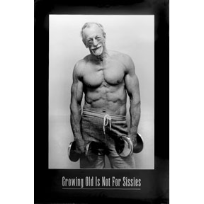 "Growing Old Man 18"" x 24"" Poster"