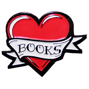 Heart Books Lapel Pin