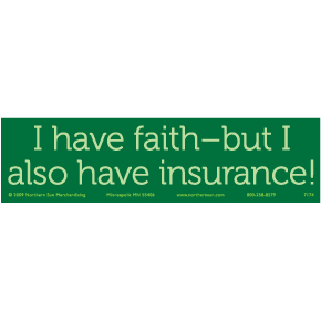 I Have Faith Bumper Sticker