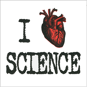 I Heart Science Sticker