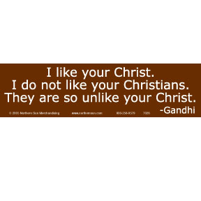 I-Like-Your-Christ-Gandhi-Bumper-Sticker