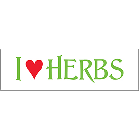 I Love Herbs Sticker