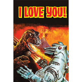 I Love You Godzilla Magnet