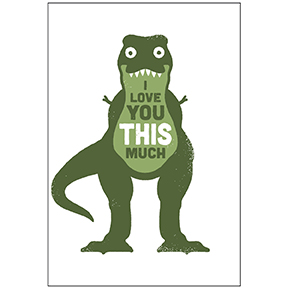 I Love You T Rex Magnet